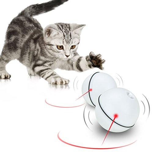 Katzenspielzeug Bälle [Automatische Rotierende Elektrische Licht] | Katzenspielzeug Beschaftigung | Katzenspielzeug Intelligenz |Katzen Interaktives Spielzeug | Katzen Kratz Spielzeug [1 Stück]