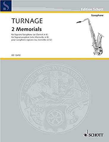Turnage: Two Memorials (Soprano Sax or Clarinet)
