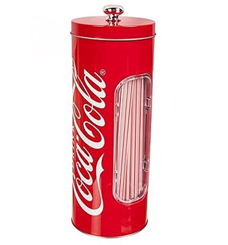 Coca Cola distributeur paille