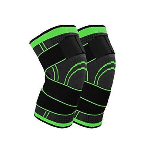 Kniestütze Pad Kniestütze Brace Guard Einstellbare Bandknees Sleeve Protector für Outdoor Indoor Sports (S-Grün)