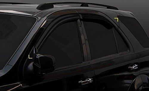Autoclover - Windabweiser-Set für Kia Sorento, 2003-2009, 4-teilig (Rauch)
