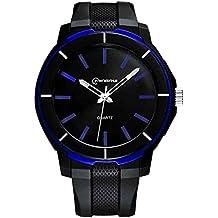 Mingrui Reloj Digital de Pulsera Elegante Clásico de Correa PU de Cuarzo Resistente al Agua de 30M Waterproof Wrist Watch para Jóvenes Chicos