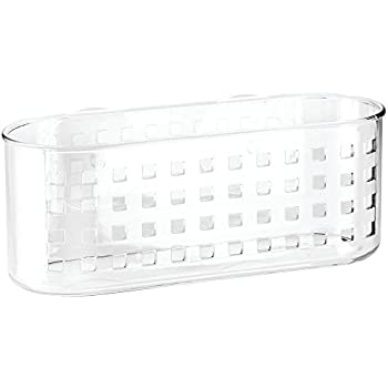 InterDesign Basic Suction Shower Shelf, Shower Organiser Without Drilling,  Made Of Plastic, Clear