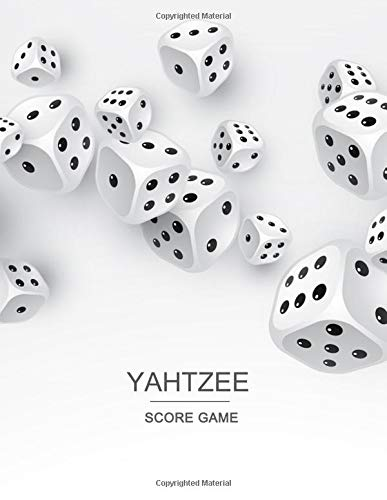 Yahtzee Score Game: Record Scoresheet Keeper And Write in the player name and record dice thrown por Narika Publishing