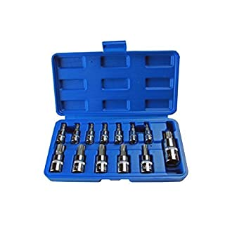 US PRO 13pc Torx Bit Socket Set T8 - T70 + Storage Case B2067