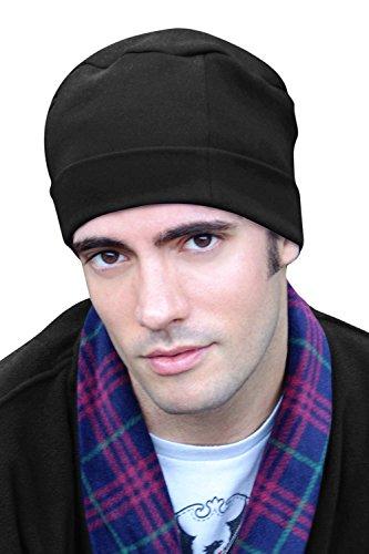 Herren Night Cap–100% Baumwolle Sleep Gap für Herren–Schlafsack Hat für Mann, Schwarz, SL-314-4712 (Turban Headcover)