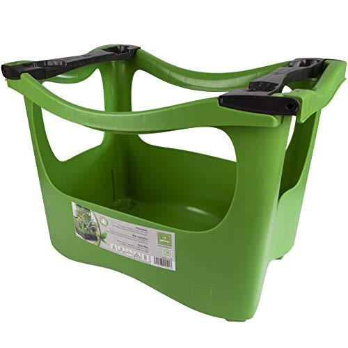 U-greeny Anzucht-Pflanzbox Pflanzregal Balkonhochbeet zum Stapeln | integriertes Wasserablaufsystem...