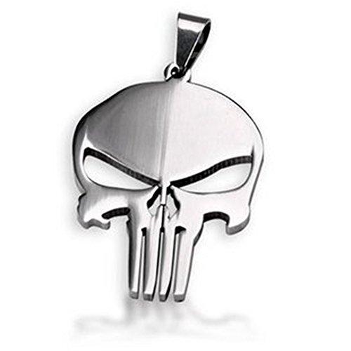Tag dell'eroe di meraviglia The Punisher Skull pendente della collana del cane con la catena d'acciaio di titanio-