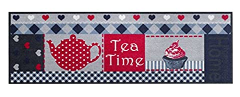 Bavaria Home Style Collection Tapis de cuisine et de bar lavable en machine à 30°c Modèle Cook & Wash Tea Time Cupcake Taille 50 x 150 cm