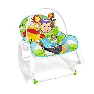 Fisher-Price - Hamaca Crece Conmigo Forest Fun, Silla para Bebé (Mattel GNV69)