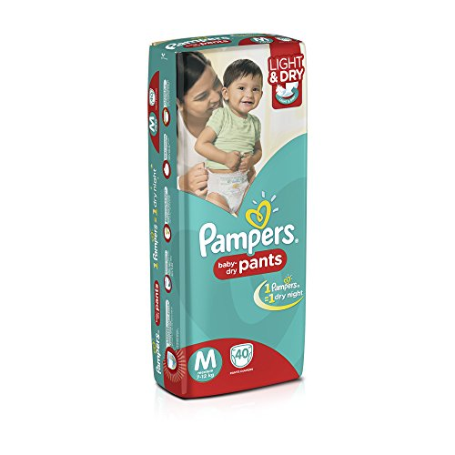 Pampers Medium Size Diaper Pants (40 Count)