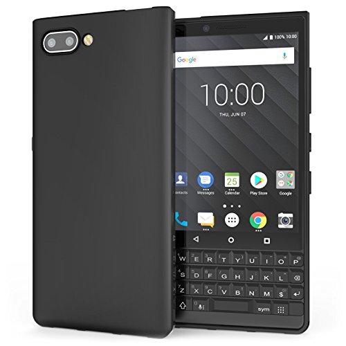 Caseflex Blackberry KEY2 Hülle, [Slim Fit] Silikon Schutzhülle Matt – Ultra Dünn & Leicht [Kratzfest] [Stoßfest] Shockproof Gel Case Cover Handyhülle für Blackberry Key 2 - Schwarz - CS000003BB