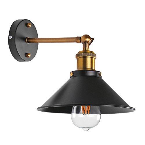 La simplicidad ONEVER lámpara pared Industrial Edison