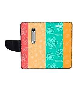 KolorEdge Printed Flip Cover For Motorola Moto G3 Multicolor - (1478-50KeMLogo11999MotoG3)
