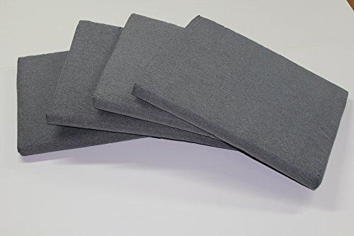 Cuscino da giardino per esterni 4 pz universale per poltrona,salotto,salottino,divano,divanetto rattan/midollino set da 4 pz. mis. l 58 x p 51 sp. 5 cm tessuto cotone poliestere colore grigio -made in italy-prezzo speciale fino esaurimento