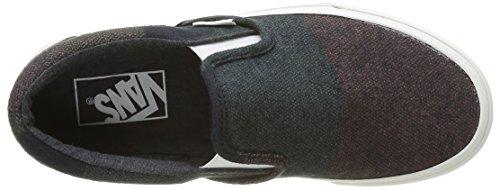 Vans Unisex-Erwachsene Classic Slip-On Low-Top Mehrfarbig (Wool Stripes multi/blanc de blanc)