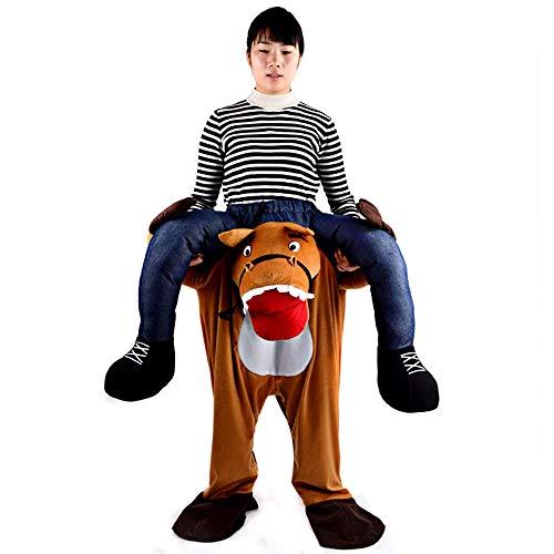 Hippo Kopf Kostüm - Bangxiu-festival Adult Ride On Hippo Aufblasbares Kostüm Blow Up Kostüm Orang-Utan Kostüm for Halloween Cosplay Party Weihnachten (Farbe : Adult, Größe : Einheitsgröße)