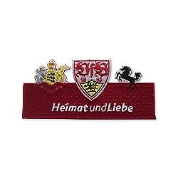 """VFB Stuttgart Aufnäher """"HeimatundLiebe"""" ca. 12 x 6 cm zum aufbügeln"""