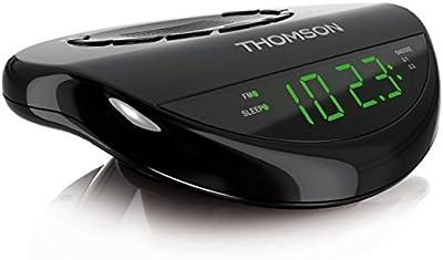 Thomson CR62 - Radio despertador (función snooze, pantalla LED, sintonizador FM) negro