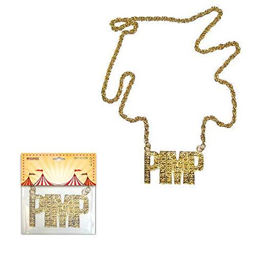 PARTY DISCOUNT ® Halskette PIMP, Goldfarben