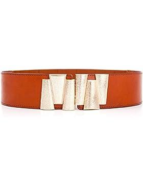 Hembra La elegancia Vestido Decoracion La cintura Cowhide Es amplia Cintura Cinturón Está apretado Moda cinturón...