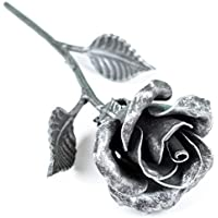 Rose Eterna Hierro Forjado color Plata- Regalo exclusivo para ella para el Aniversario de Bodas, Sant Jordi, San Valentin, el día de la Madre, el Cumpleaños, la Navidad
