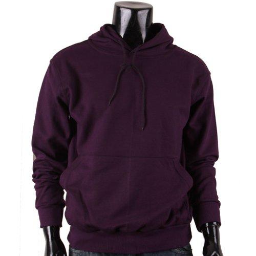 BCPOLOHerren Kapuzenpullover, Einfarbig Violett Violett (Sweatshirt Hoody Praxis)