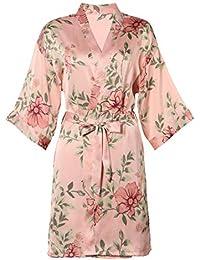 BellisMira Camisón de Satén Encaje Pijama Salto de Cama Suave Lencería Ropa de Dormir Ropa de