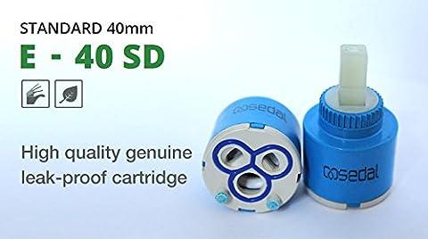 Véritable Sedal (EU) 40mm de remplacement de cartouche à disques en céramique E-40AZ DS de bain avec lavabo–FBA