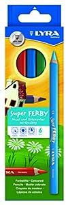 LYRA 890K06  súper Ferby - Lápices de Colores de Madera (6 Unidades) Importado de Alemania