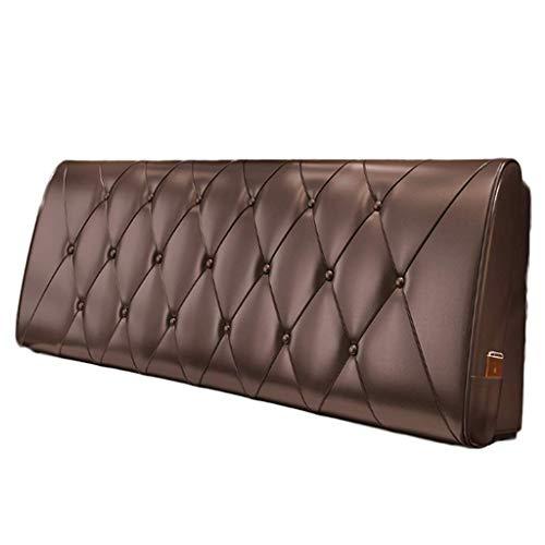Gj Schokolade (Unbekannt Schokoladen-Farbleder-Kissen-Weiches Kopfteil-Kissen-einzelnes Bett-abnehmbares Bett-Rückseiten-Positionierungs-Unterstützung (Farbe : Chocolate, größe : No Bedside Twin Size))