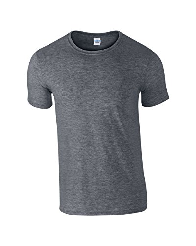 Gildan 64000 Mens Short Sleeve Softstyle T-Shirt Tee Dark Heather