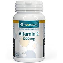FP24 Health Vitamin C 1000mg - 240 Tabletten - Hochdosiert - 8 Monatsvorrat - Ascorbinsäure - Top Qualität - Made in Germany
