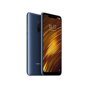 """Xiaomi Pocophone F1 - Smartphone Dual SIM de 6.18"""" (4G, Qualcomm Snapdragon 845 2.8 GHz, RAM de 6 GB, Memoria de 64 GB, cámara Dual, Android) Color Azul [Versión Española]"""