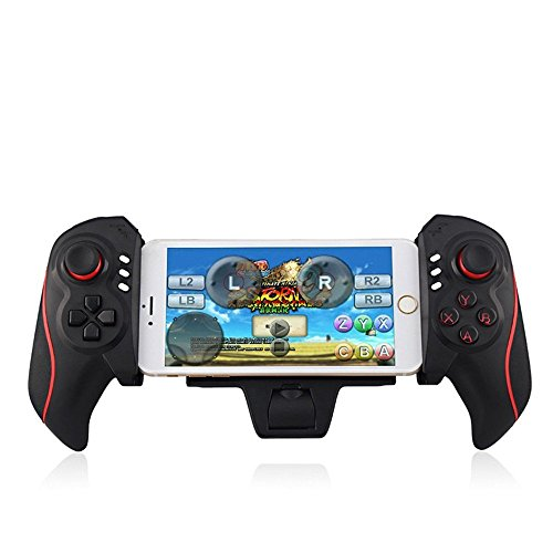 Wireless Teleskop Bluetooth Controller, Pyrus Mobile Game Controller Ipega Joystick Gamepad für Android iPad iOS - Schwarz
