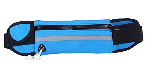 Ynxing in cintura marsupio borsa con chiave e cellulari per uomini e donne corsa arrampicata mountain work out Sweatproof e traspirante, Light Blue Blue