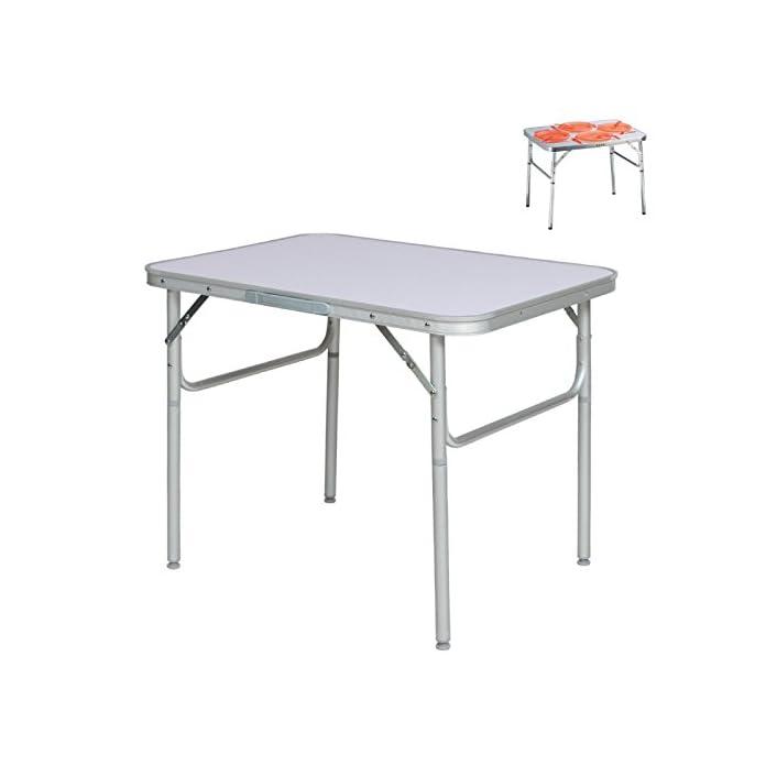 Aluminium Klapptisch Campingtisch 75x55cm Gartentisch Beistelltisch Falttisch Picknicktisch Alutisch Faltbar Und Hhenverstellbar