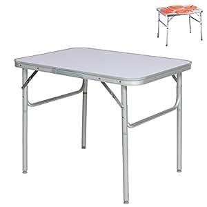 Aluminium klapptisch campingtisch 75x55cm for Beistelltisch 65 cm hoch