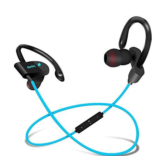 Bluetooth Wireless Headphones Kopfhörer Sport Stereo In-Ear Ohrhörer Headset mit Mikrofon für iPhone Huawei Samsung iPad Laptop HTC YuRui (Blau) Bluetooth Stereo Sport Headset