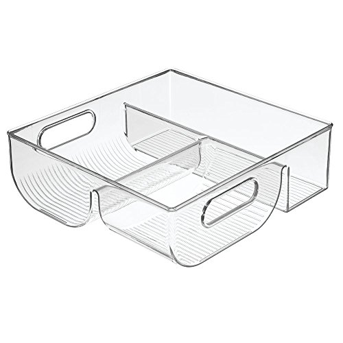 InterDesign Lid Storage Organizer for Kitchen Cabinet, Pantry - Clear