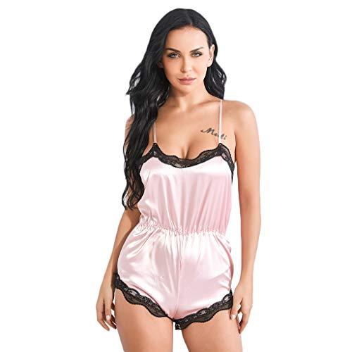 Lace Halter Set (Caerling✦ Damen Tiefer V-Ausschnitt Halter Lingerie Bodysuit Sexy Lace Nachtwäsche Dessous UnterwäSche Sleepwear Reizwäsche Negligee Ouvert Babydoll)