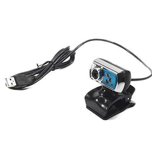 Love lamp HD-Überwachungskamera 12 MP HD-Webcam mit hoher Auflösung 3 LEDs Webcam USB mit Night Vision Mikrofon für PC-Peripheriegeräte blau Überwachung Domestico A Digitale Nacht Vision Webcam