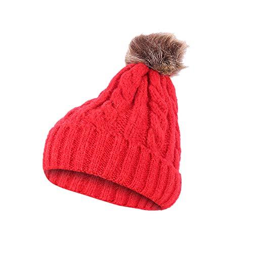 JMETRIC Damen Beanie Hat|Strickmütze|Barett |Winddichte Mütze|Gestrickt Verdicken Wintermütze| Bommelmütze| Wintermütze Mode Wärme