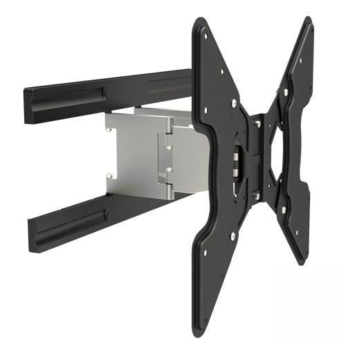 TV-Wandhalterung (ultraflache 37mm) schwenkbar, neigbar, vollbeweglich für LED TV-Geräte bis 50 Zoll auch 37 40 42 46 47 Zoll Modell HALTERUNGSPROFI ALX1