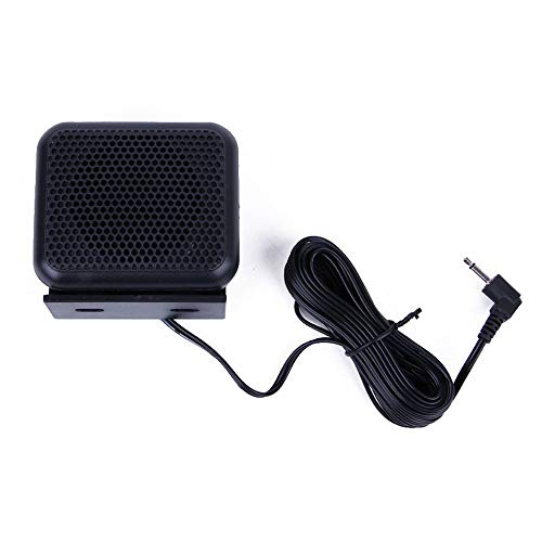 HermosaUKnight 3.5mm P600 Car Radio External Speaker for Yaesu Icom Kenwood Mobile Radio