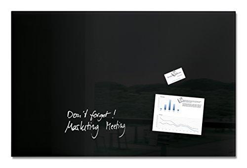 SIGEL GL140 Großes Glas-Magnetboard 100 x 65 cm schwarz / Magnettafel Artverum - weitere Größen/Farben