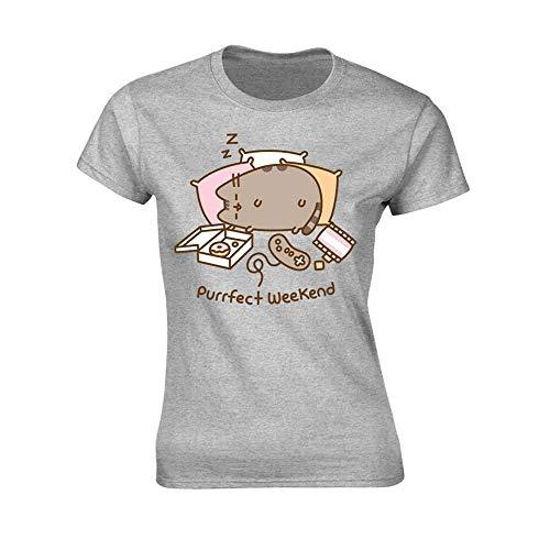 Pusheen Purrfect Weekend (Grey) Girlie T-Shirt M