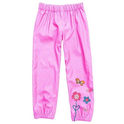 Kinder Winddichte & wasserdichte Regenjacke Hose Trouse Pink / 110cm 30 Rainsuit