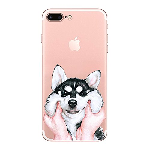 IPHONE 6plus Hülle Karikatur Hund Katze Paar TPU Silikon Schutzhülle Handyhülle Case Clear Case für iPhone 6plus/6splus (TM0132) TM0132