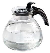 Home Basics Glass Tea Kettle, Whistling